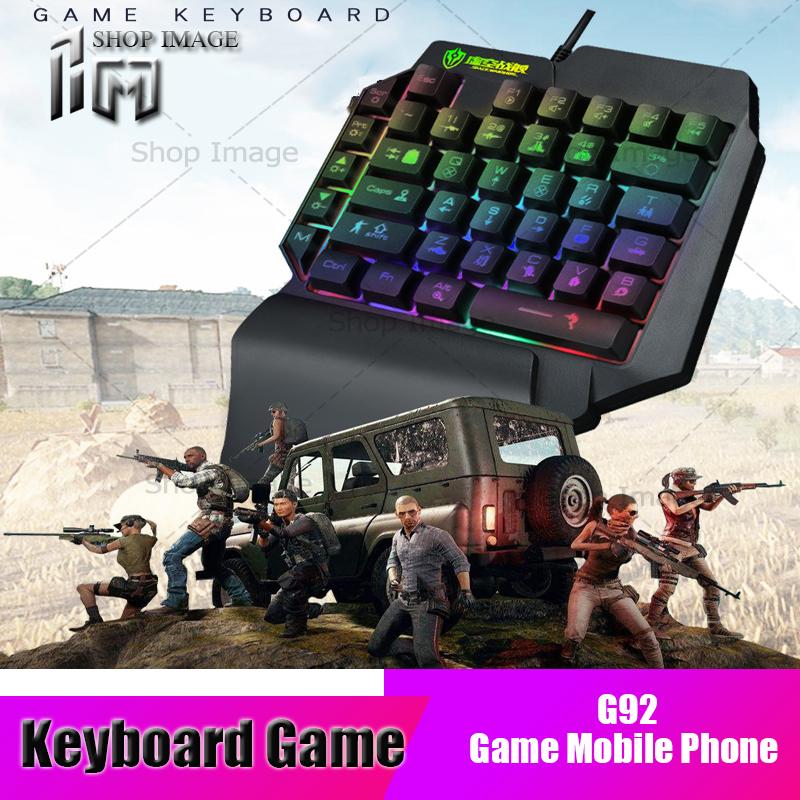 คีย์บอร์ดมือเดียว คีย์บอร์ดสั้น คีย์บอร์ดมือถือ คียบอร์ดมีไฟ คีย์บอร์ดเล่นเกม คีย์บอร์ดมือถือ คีย์บอร์ดพกพา คียบอร์ดเกมส์ฟรีฟาย Game Mobile Phone Keyboard Shopimage.