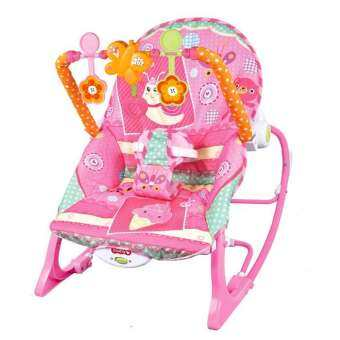 Morestech เปลโยก-สั่น มีเสียงเพลง ibaby Infant-to-toddler Rocker สีชมพู-