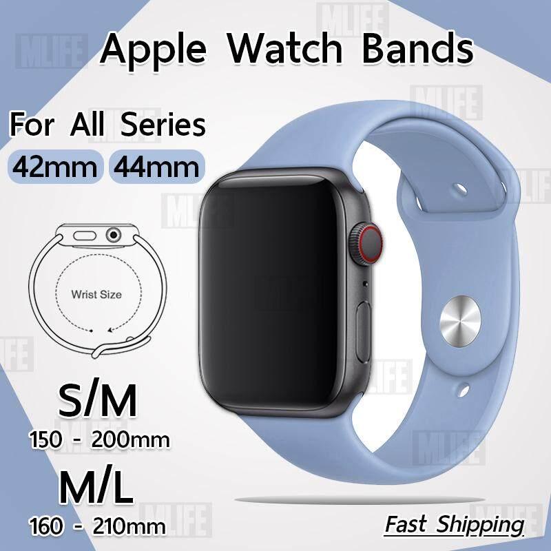 สาย ซิลิโคน สำหรับ นาฬิกา Apple Watch 42mm หรือ 44mm ซีรีย์ 5 4 3 2 1  - สายนาฬิกา Replacement Silicone Band for Apple Watch Series 1, 2, 3, 4, 5 44 mm 42 mm