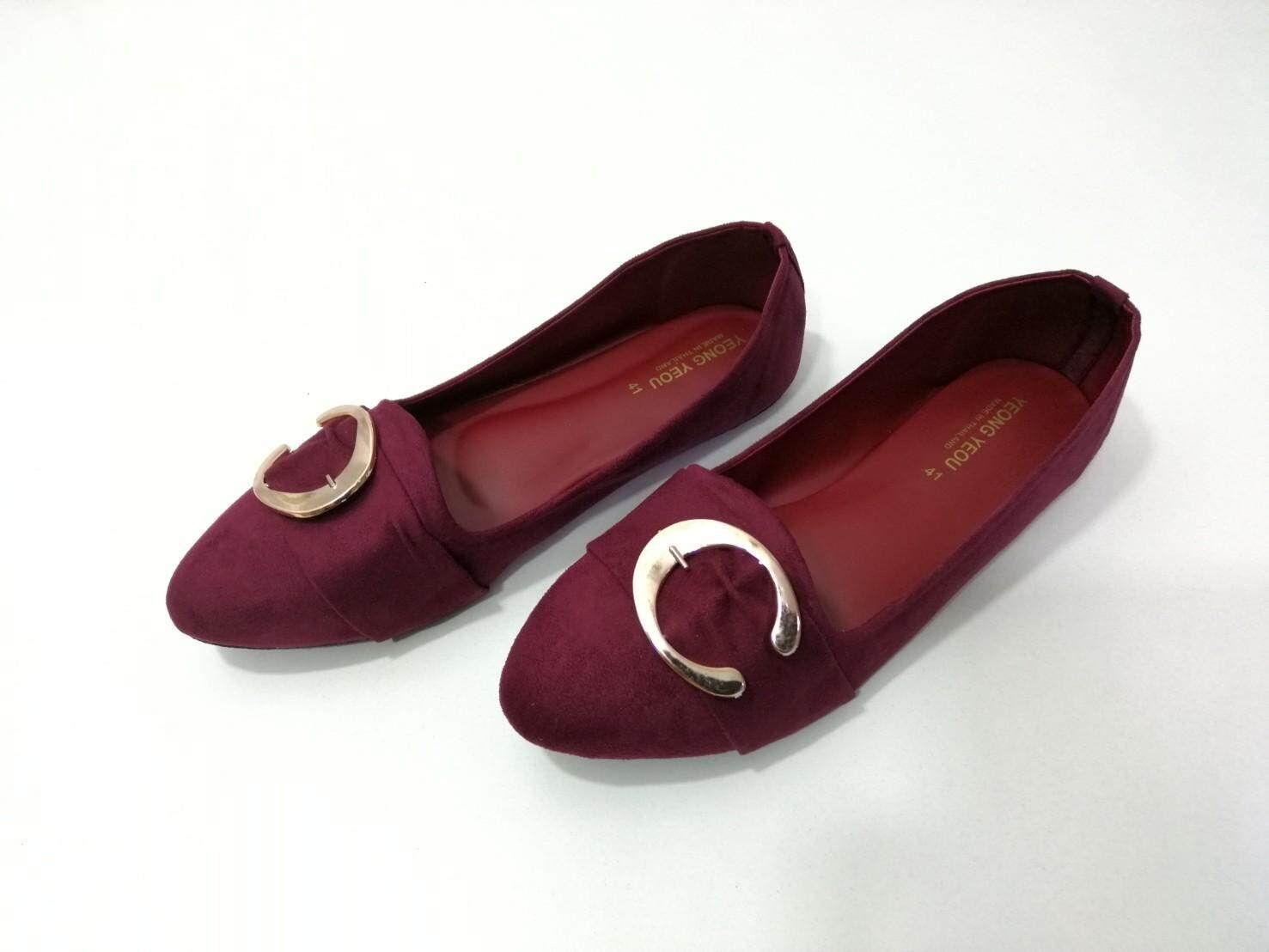 Yeong Yeou รองเท้าคัทชูผ้าหนังกลับตัว C บิ๊กไซส์ Yy626-1.