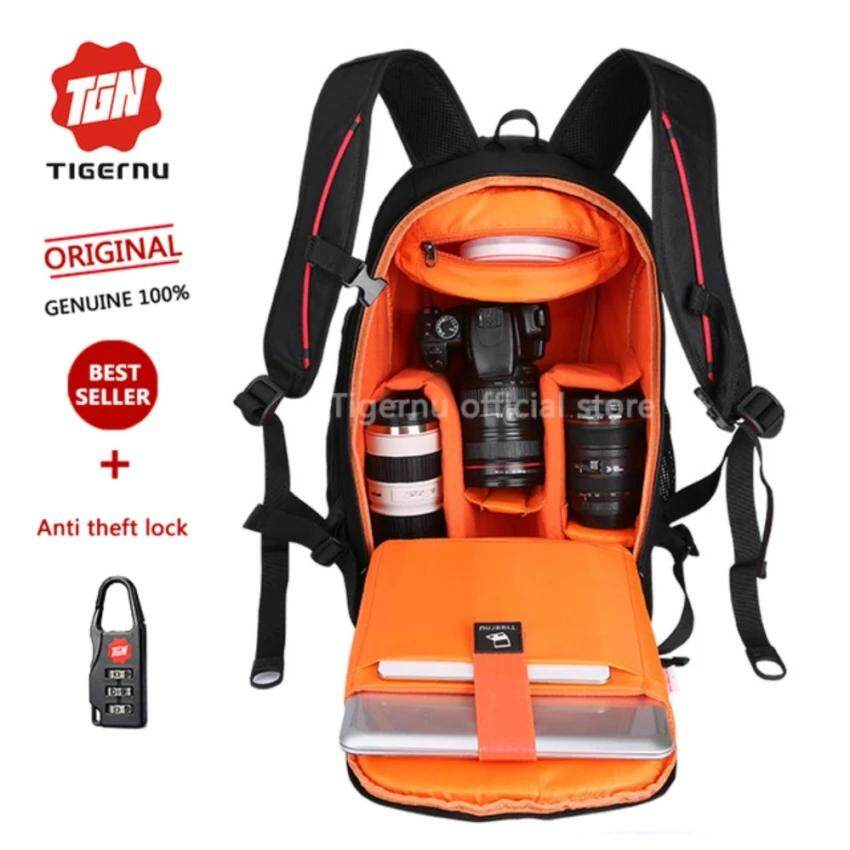 Tigernu Multifunctional Backpack Anti-Theft Photograph DSR Camera BagsHY6006(orange) - intl