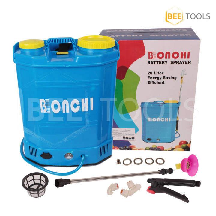 BONCHI ถังพ่นยาแบตเตอรี่ เครื่องพ่นยาแบตเตอรี่ 20ลิตร แบต 12V สามารถพ่นน้ำยาฆ่าเชื้อได้ ถังพ่นยา ไฟฟ้า (20L)