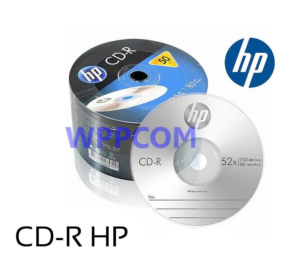 แผ่นซีดี Cd Cd-R ยี่ห้อ Hp แท้ ความจุ 700mb Pack 50 แผ่น.