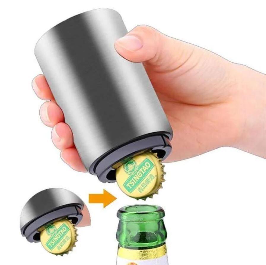 Biggirlmall ที่เปิดขวด ที่เปิดฝาขวด ที่เปิดขวดไวน์ อุปกรณ์เปิดฝาขวด เปิดฝาอัตโนมัติ เพียงแค่กดก็เปิด สำหรับเปิดฝาขวดเบียร์ โซดา น้ำอัดลม ขนาดกระทัดรัด พกพาสะดวก.