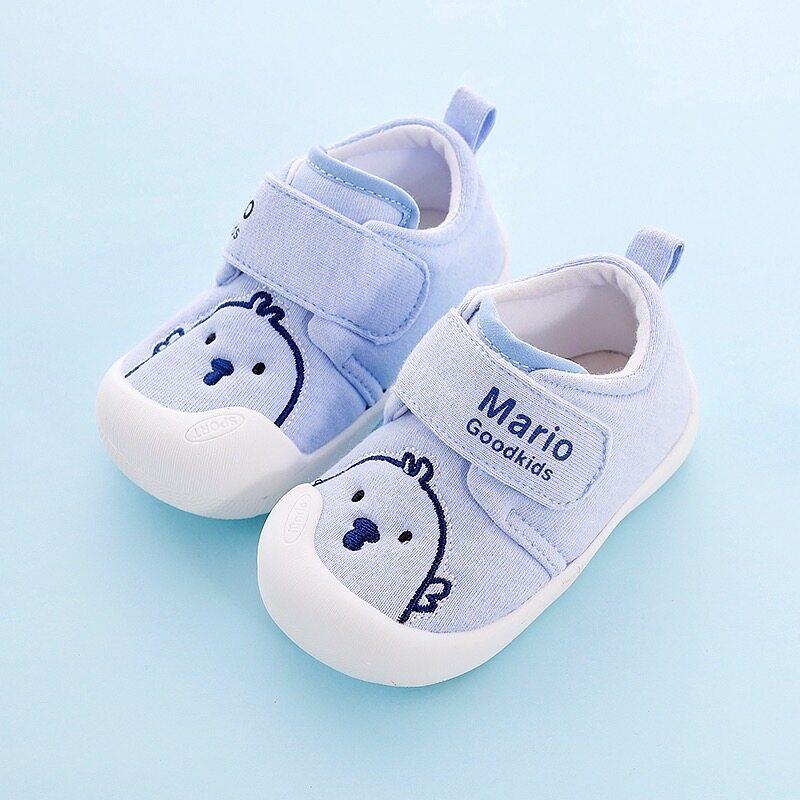 ร้องเท้าเด็กทารกลายการ์ตูน รองเท้าเด็กหัดเดินกันลื่นระบายอากาศรองเท้าผ้าใบ222.
