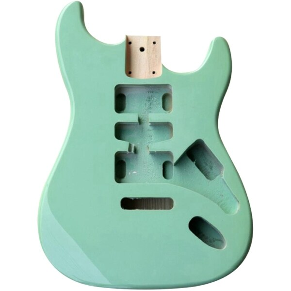 Light Green Color ST Electric Guitar Body Wood for DIY Guitar Body Replacement Malaysia