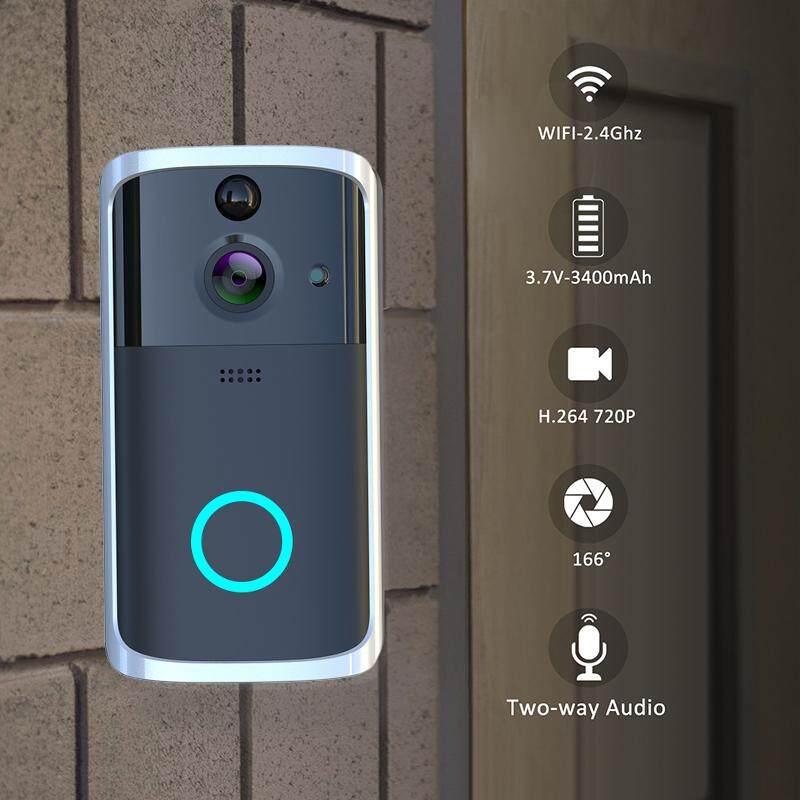 【wireless Wifi Doorphone】wireless Wifi Doorbell Smart Video Phone Door Visual Ring Intercom Secure Hd Camera Real-Time Two-Way Talk And Video.