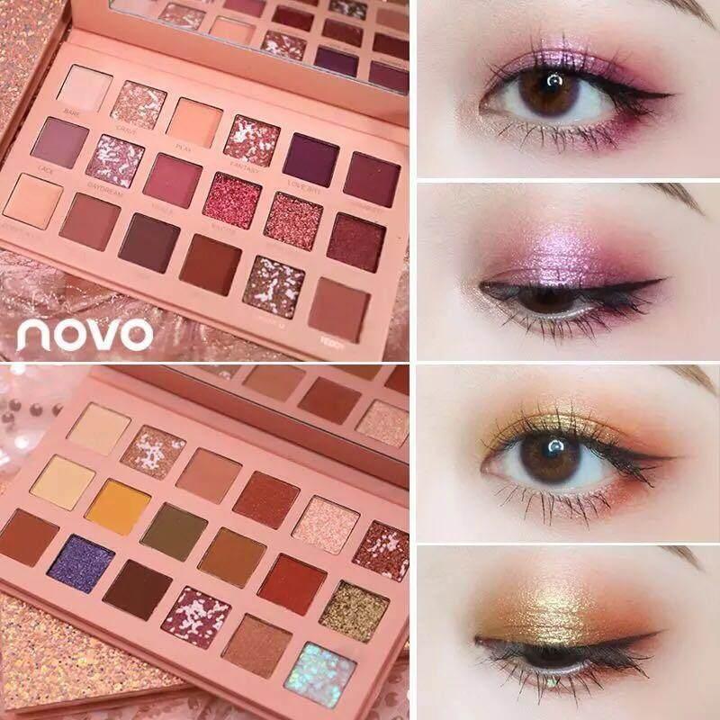 Novo cinderella✨ #อายแชโดว์novoตัวใหม่ เพคเกจละมุนนน~ สวยหวาน เม็ดสีแน่นๆ 18 สีใน 1 พาเลท #สีสวยม้ากกบอกเลย #แนะนำสุดดค่าต้องมี❤️