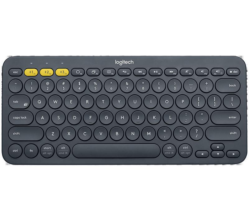 Keyboard Logitech K380 Multi-Device Bluetooth (english) แป้นพิมพ์อังกฤษ แถมสติกเตอร์ภาษาไทย(ตรงรุ่น) ของแท้ ประกันศูนย์ 1 ปี.