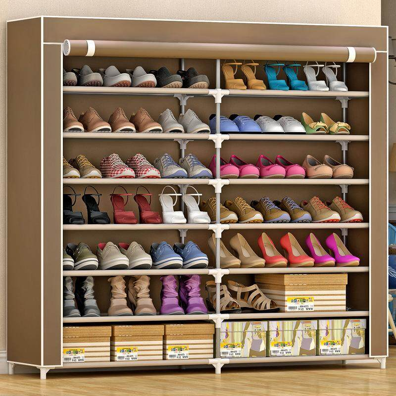 MWt OXFORD Cloth Shoes Rack/High-Capacity Dust Shoes Cabinet