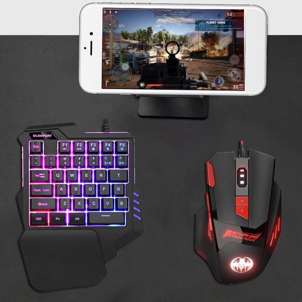 คีย์บอร์ดเกมส์มิ่งมีไฟ  เมาส์หลังเรืองแสงหรือคีย์บอร์ด (เฉพาะ) สำหรับเล่นเกม One - Handed แป้นพิมพ์เกมมือ Artifact ซ้ายมือแป้นพิมพ์เกม.