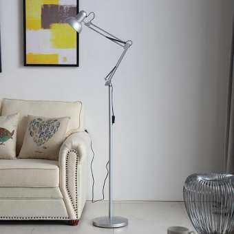 Simple lights โคมไฟตั้งพื้นพับเก็บได้ Adjustable floor lamp มีให้เลือกสองสี ขาว-ดำ-
