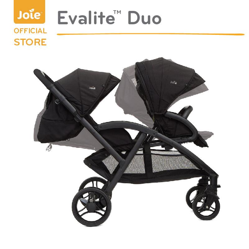 รถเข็น Joie พี่น้อง2 ที่นั่ง ( Stroller Evalite Duo สี Coal).