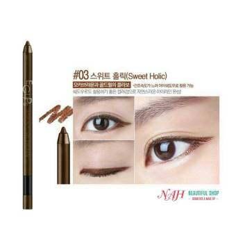 Eglips Ultra Auto Gel Eyeliner สี 03 sweet Holic 1 แท่ง ดินสอเขียนขอบตาแบบออโต้ เนื้อเจลเนียนนุ่ม เขียนง่าย แห้งเร็ว สีคมชัด สูตรกันน้ำ