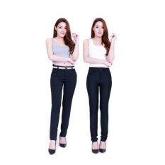 Eiffel Jeans กางเกงขายาว ทำงาน ทรงเดฟ แพ็คคู่ ราคาพิเศษ Off003Xoff004 สีดำ เป็นต้นฉบับ