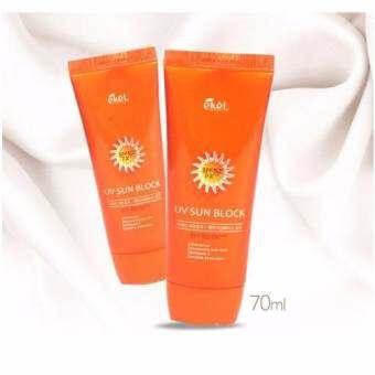 ราคา EKEL ครีมกันแดด กันน้ำ SPF 50PA+++ Waterproof Sunscreen 50PA+++ 70 ml.