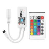 ราคา เครื่องควบคุมไฟแถบไฟเส้น Mini Wifi Rgb Led Strip Controller สำหรับ Iphone Ipad Android Smartphone Tablet 24 Keys Remote Controller ใหม่ ถูก