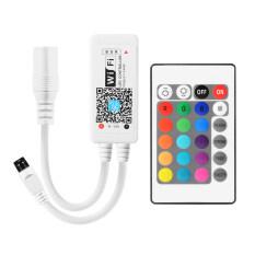 ซื้อ เครื่องควบคุมไฟแถบไฟเส้น Mini Wifi Rgb Led Strip Controller สำหรับ Iphone Ipad Android Smartphone Tablet 24 Keys Remote Controller Unbranded Generic เป็นต้นฉบับ