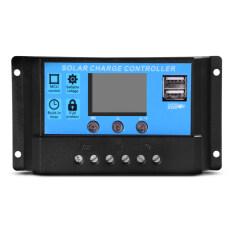 ขาย เครื่องควบคุมการชาร์จแบตเตอรี่แผงโซล่าเซลล์ 20A Pwm Usb Port Display 12V 24V