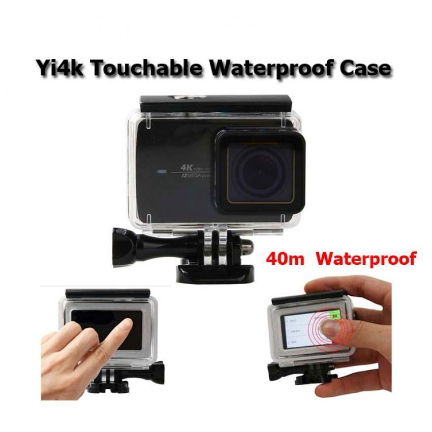 เคสกันน้ำ แตะหน้าจอ Touch Screen Xiaomi Yi2 Yi4k Action Camera 40m Waterproof Housing Case