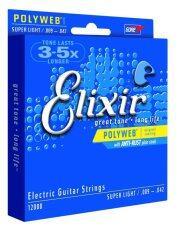 ราคา Elixir สายกีตาร์ไฟฟ้า Polywep With Anti Rust Plin Steels 009 042 ใหม่