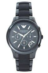 ราคา Emporio Armani Ceramica Chronograph Black Dial Ceramic Mens Watch Ar1452 Black