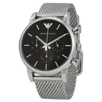 Emporio Armani Men's AR1811 Classic Analog Display Analog Quartz Silver-Tone Watch