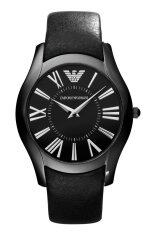 โปรโมชั่น Emporio Armani Men S Quartz Watch Ar2059 Ar2059 With Leather Strap Black Armani