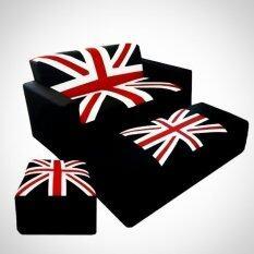 ขาย Enzio ชุดโซฟาขนาดใหญ่ ลายธงชาติ พร้อมสตูล 2 ชิ้น ขนาด130 รุ่น Kingdom Triple X Studio A ผู้ค้าส่ง