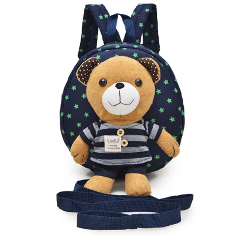 ซื้อที่ไหน เป้จูงเด็ก กระเป๋าเด็ก สายจูงเด็ก กระเป๋าเป้เด็ก ลายหมี (สีน้ำเงิน)