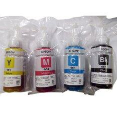 ขาย Epson หมึกแท้บรรจุในถุงสูญญากาศ T664Bk T664C T664M T664Y Epson 70X4Ml Black Cyan Magenta Yellow Epson เป็นต้นฉบับ