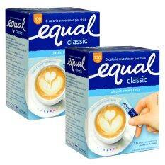ขาย Equal อิควลชนิดผง ให้ความหวานแทนน้ำตาล 100ซอง 2 กล่อง Equal ถูก