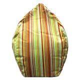 ทบทวน ฺbeanbagthailand เก้าอี้ทรงหยดน้ำ รุ่น Beanbag ลายทางสีส้ม เขียว Dia 80 Cm