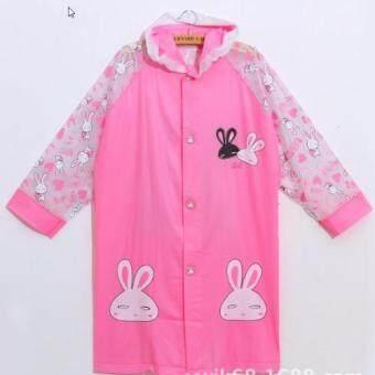 เสื้อกันฝนเด็ก ลาย COBOPANDA สีชมพู เป่าลมได้ ไซต์ M-3XL # Raincoat