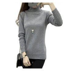ขาย เสื้อกันหนาวคอเต่านิตติ้งแขนยาว สไตล์เกาหลี Unbranded Generic