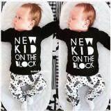 ราคา เสื้อผ้าเด็กอ่อน ชุดเด็กอ่อน เสื้อผ้าเด็ก ของใช้เด็กอ่อน เสื้อผ้าเด็กแรกเกิด เสื้อกันหนาวเด็ก ชุดเด็ก สีดำ แขนยาว New Kid ใหม่