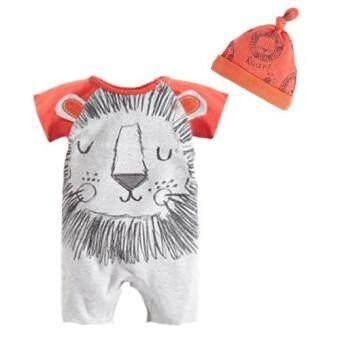 เสื้อผ้าเด็กทารก ชุดจั๊มสูทเด็ก ลายสิงโต