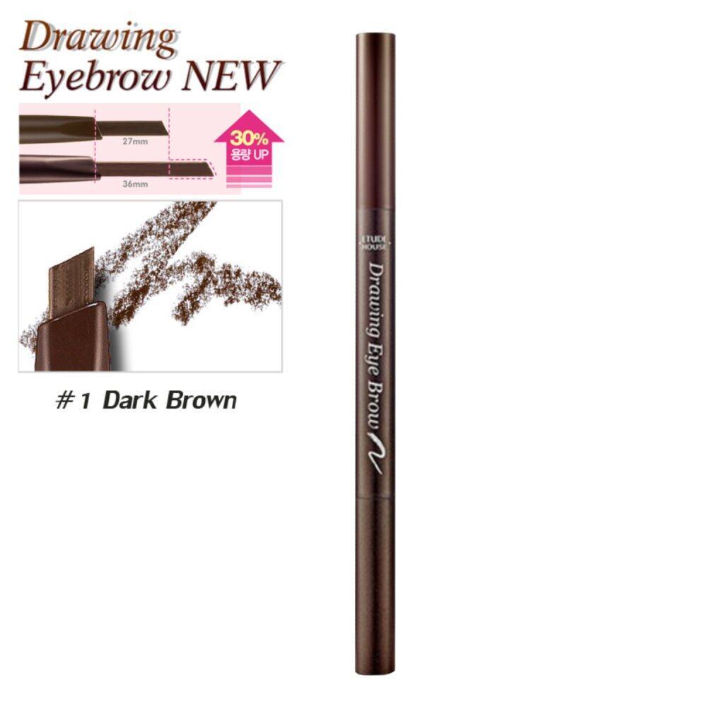ขายช็อก Etude House ดินสอเขียนคิ้ว (New) #No.1 Dark Brown x2ด้าม Drawing Eye Brow Duo (ตัวใหม่เพิ่มปริมาณ30%) ซื้อเลย - มีเพียง ฿171.12