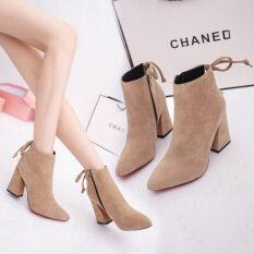 ขาย ยุโรปรองเท้าบูทของผู้หญิงรองเท้าแฟชั่นล้วน สีกากี ถูก ใน จีน