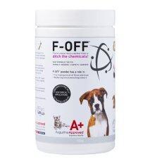 F-Off ผลิตภัณฑ์กำจัดเห็บหมัด และลดกลิ่นตัว แบบออร์แกนิค ปลอดภัย ไร้สารเคมี สำหรับสุนัขและแมว.