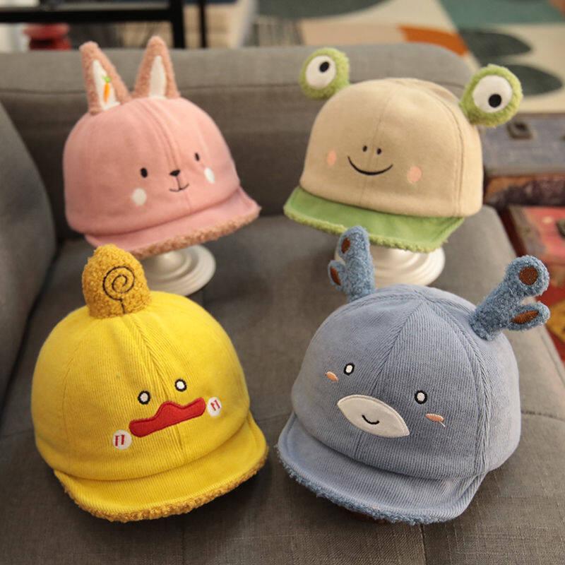 [พร้อมส่ง]หมวกเด็ก 5เดือน - 2ปี หมวกเด็กอ่อน หมวกแก๊ปเด็ก ปีกอ่อน หมวกเด็กแรกเกิด รอบหัว 44-48 Cm.หมวกเด็ก.
