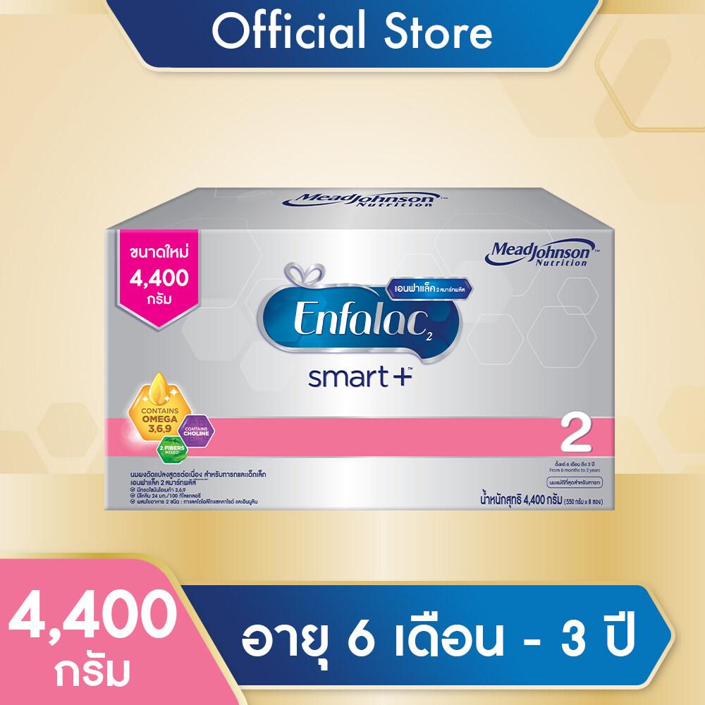 แนะนำ เอนฟาแล็ค สมาร์ทพลัส สูตร 2 นมผงสำหรับ ทารก เด็กแรกเกิด เด็กเล็ก ขนาด 4,400 กรัม 1 ชิ้น Enfalac Smart+ Formula 2 Milk Powder for infant baby 4,400 g 1 unit