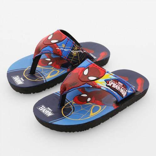 รองเท้าแตะสำหรับเด็ก รุ่น BC1021 ลายสไปเดอร์แมน สีฟ้า ขนาด 27