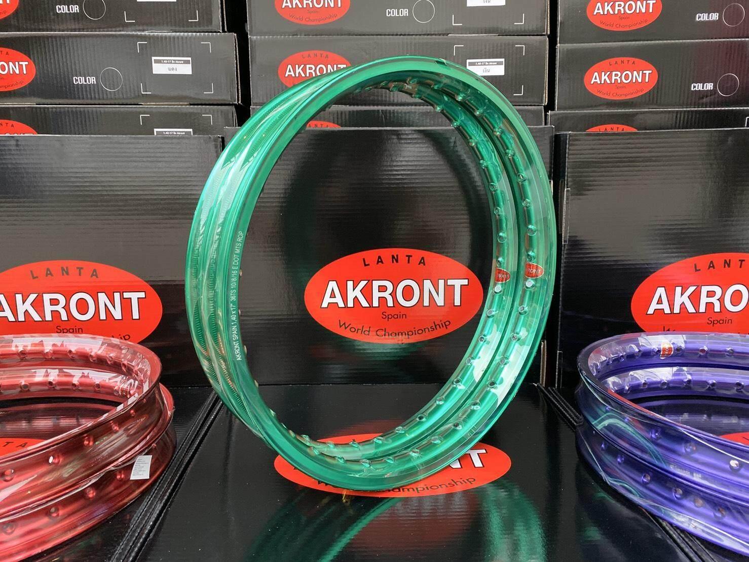 วงล้อ AKRONT ลิขสิทธิ์แท้ ขนาด1.4-17 แข็ง หนา งานเลเซอร์ขอบ สีสดไม่ซีด l PTM Racing