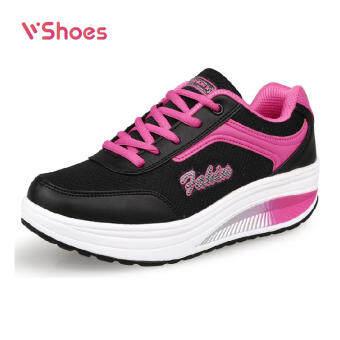 2020 new fashion trend sports and leisure mesh fabric rocking shoes women's shoes slope set foot platform shoes women's single shoes รองเท้าผู้หญิง แฟชั่น รองเท้าผ้าใบหญิง