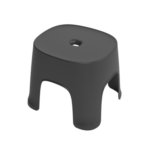 Small Bench Anti-Skid Coffee Table Plastic Simple Stool Adult Thickening ChildrenS Stool For Shoes Short Stool Black