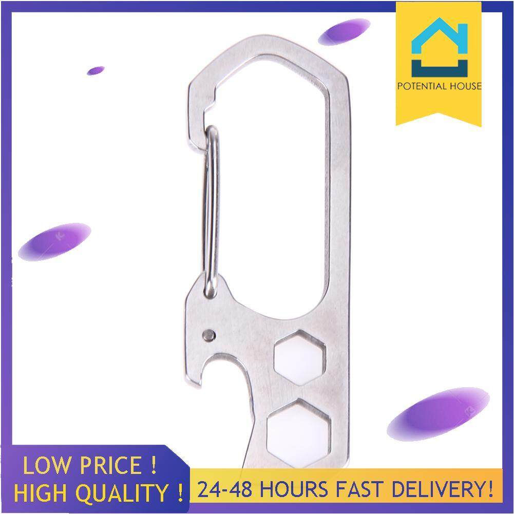 Mountaineering Buckle Tool Pry Key Chain Screwdriver Stainless Steel Bar
