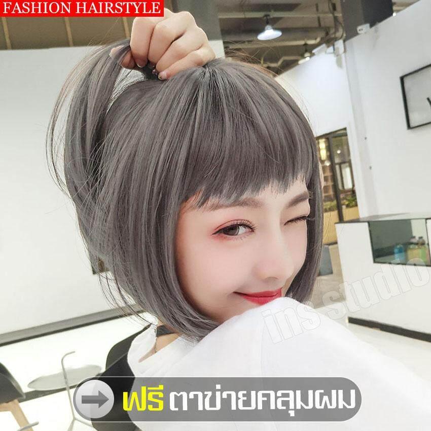 (จัดส่งฟรี!!)long Cosplay Wig ทรงผมแฟชั่นเกาหลี วิกผมยาวผู้หญิงดัดลอนปลาย หน้าม้า สไตล์สาวเกาหลี วิกผมยาวตรง แฟชั่นสำหรับผู้หญิงยาวผมตรงสำหรับต่อวิกผมสำหรับสวมใส่ทุกวัน เครื่องแต่งกาย   ไหมคุณภาพดี เหมือนธรรมชาติ ลุคสาวเกาหลี วิกผมปลอมสีดำหญิงผมยาว วิกผม.