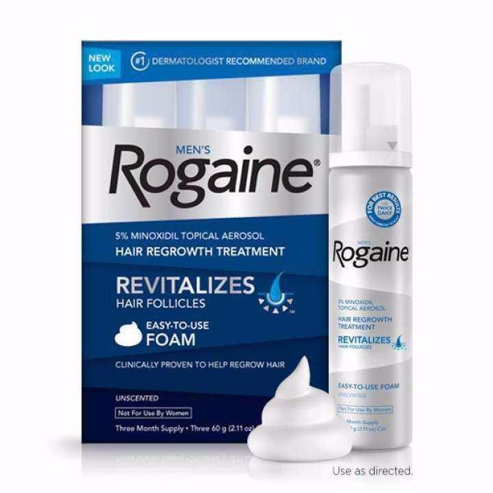 Rogaine ยาปลูกผมสำหรับผู้ชายชนิดโฟม 5% Foam แพคกล่อง 3 ขวด