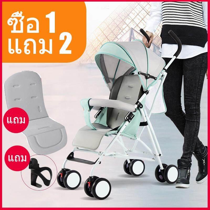 แนะนำ รถเข็นเด็กแบบใหม่ 2019:มีน้ำหนักเบา4.4 กิโลกรัม สามารถนั่งได้เท่านั้น ขนาดใหญ่ Baby Stroller 3-36เดือน รุ่น:Eco300 Free Gift baby brush